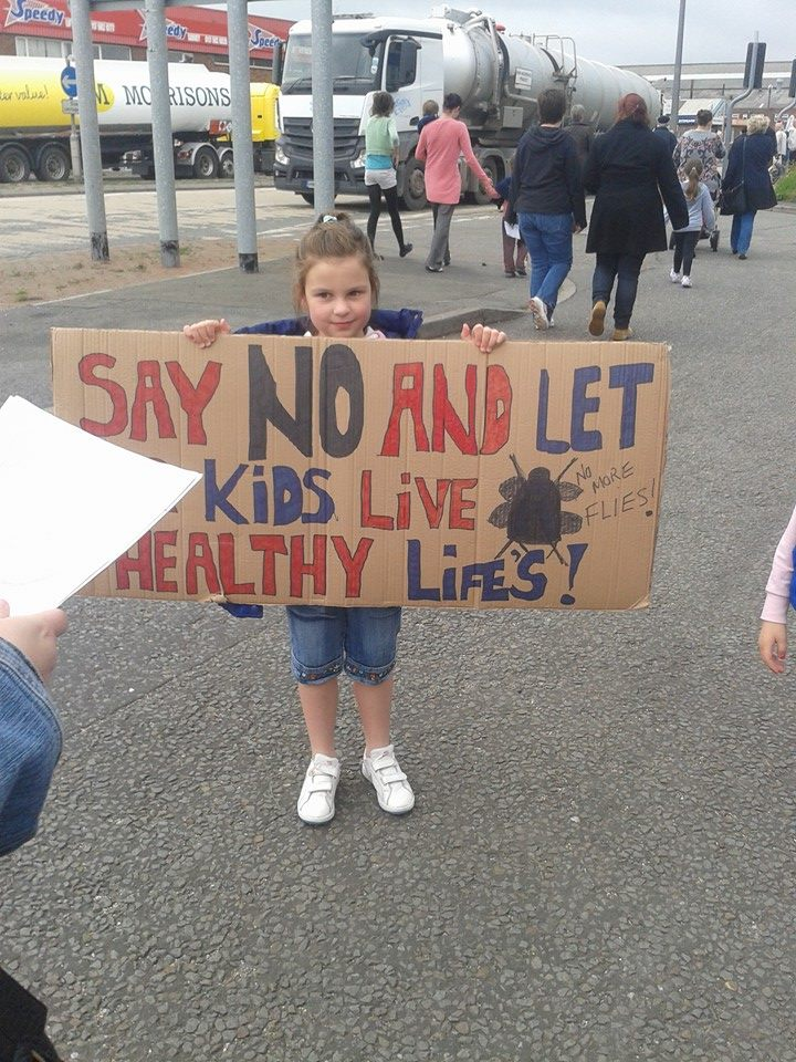Avonmouth fly protest