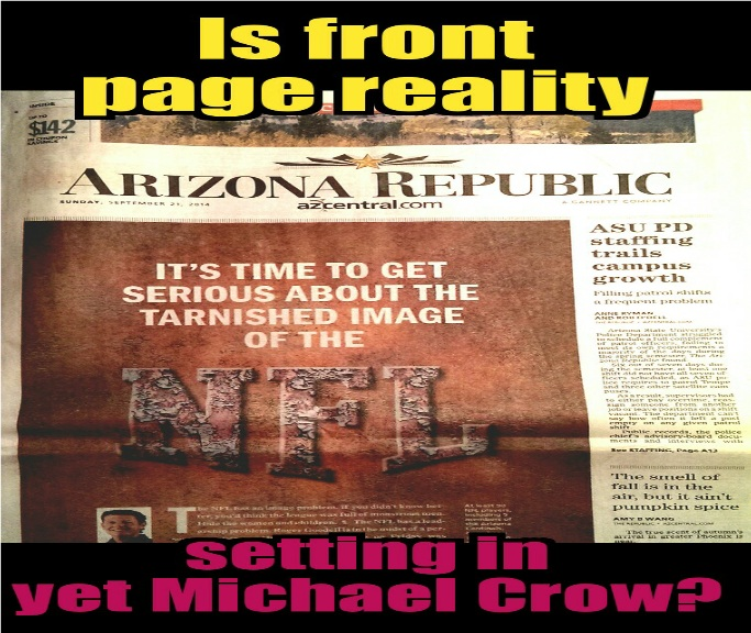Front page reality for Michael Crow