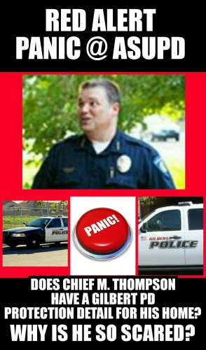 Does Chief Thompson have Gilbert PD protection detail for home