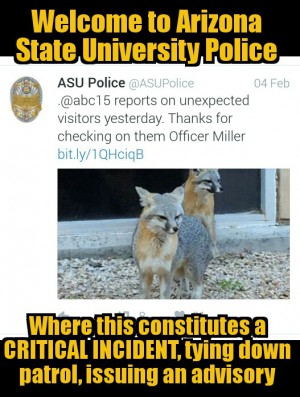 Welcome to Arizona State University Police