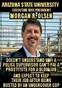 Dr Morgan R Olsen asu police fails