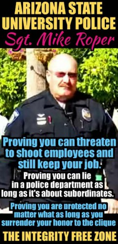 Arizona State University Police Michael Von Roper Dishonor Roll