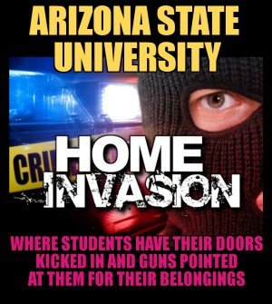 Arizona state University home invasion armed robbery on campus