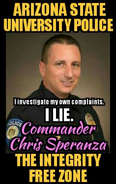 Arizona State University Police Commander Chris Speranza integrity free