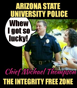 Arizona state University police chief Mike Thompson escapes responsibility again