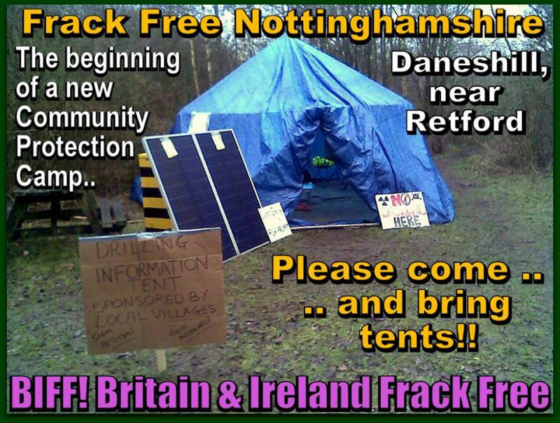 New anti-fracking camp in Nottinghamshire