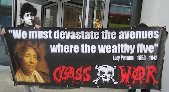The Lucy Parsons banner.