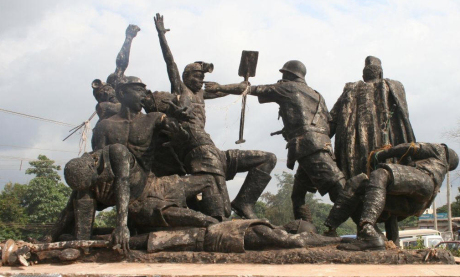 Monument to the miners at Enugu, Nigeria.