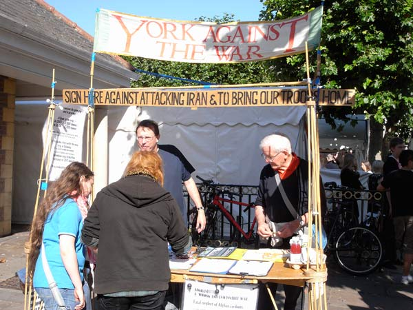 York Against The War Stall