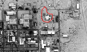 Pictures of the secret Dimona nuclear reactor in Israel, showing where the plant has allegedly been camouflaged. Photograph: space imaging