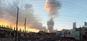 Air strike in Sana'a. Image via Wikimedia Commons.